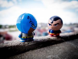 Two strange heroes meet